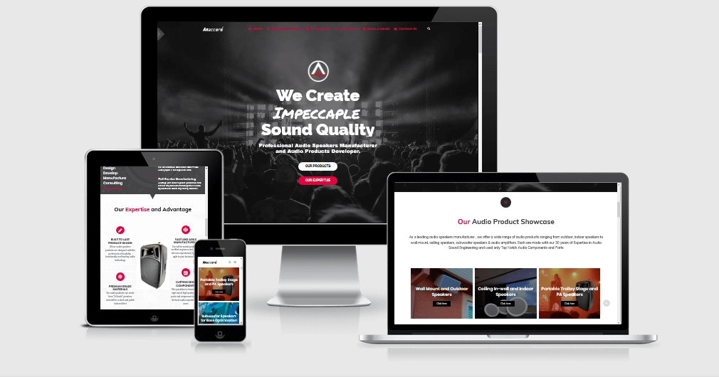 Anaccord.net new website design is clean, professional, easy to navigate and mobile responsive.