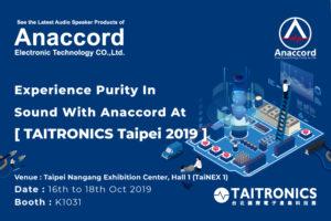 Anaccord @2019 - TAITRONICS Taipei Exhibition 2019
