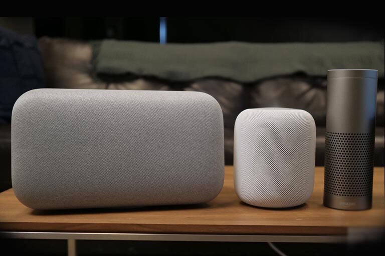 Smart speakers from Google Amazon and Apple